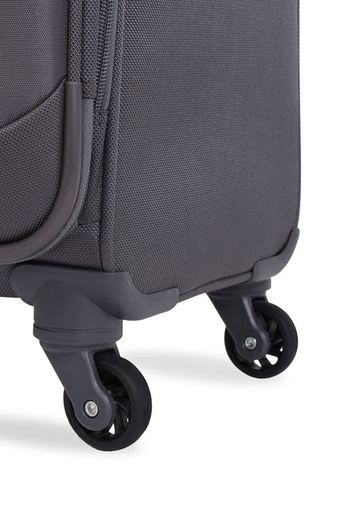 Swissgear 6006 Expandable Liteweight Spinner Luggage Four 360-degree, multi-directional liteweight spinner wheels