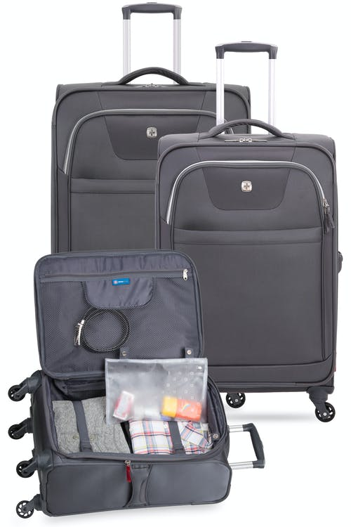 """Set contains the 20"""",  24"""", and the 29"""" Expandable Liteweight Spinner Luggage Collection"""