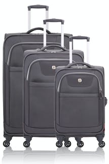 Swissgear 6006 Expandable Liteweight Spinner Luggage 3pc Set - Gray