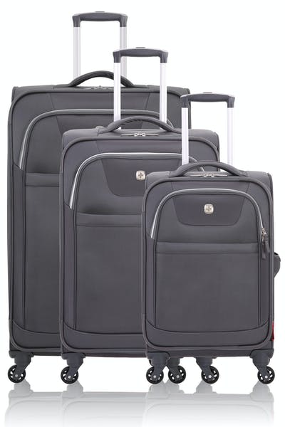 Swissgear 6006 Expandable Liteweight 3pc Spinner Luggage Set - Gray