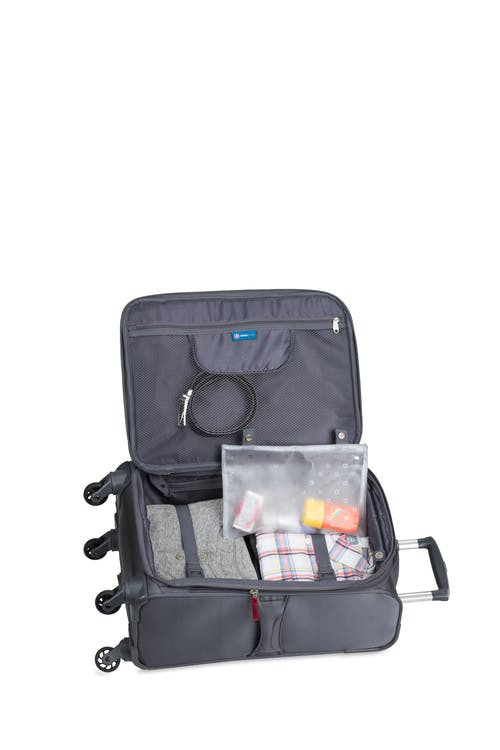 """Swissgear 6006 20"""" Carry-On Liteweight Spinner Luggage - Open View"""