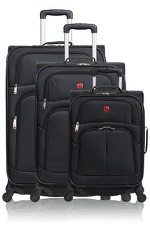 SWISSGEAR 6053 Expandable Luggage 3pc set - Black