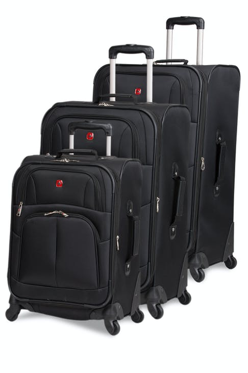 SWISSGEAR 6053 Expandable Luggage 3pc set - Black