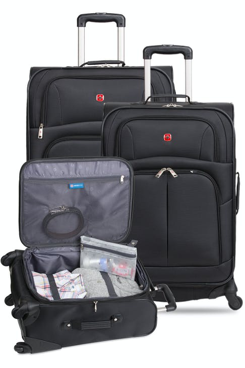 """SWISSGEAR 6053 Expandable Luggage 3pc set contains the 20"""", 24"""", 28"""" Expandable Spinner"""