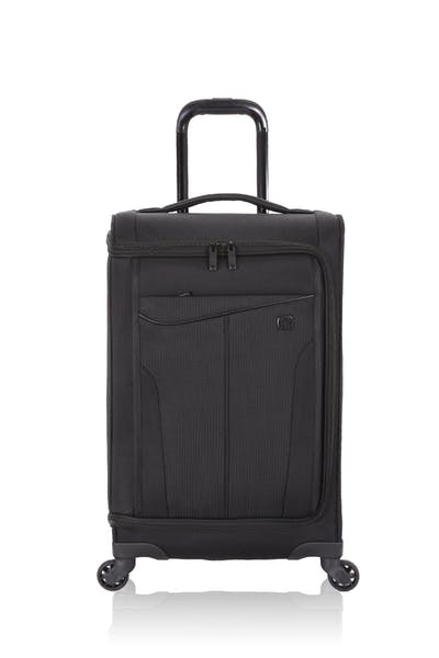 Swissgear 6067 Getaway 2.0 USB Garment Carry On Spinner Luggage - Black