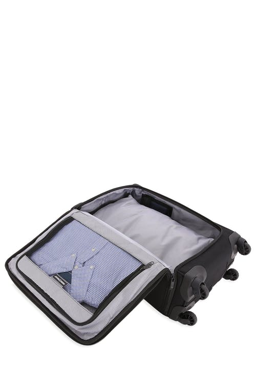 Swissgear 6067 Getaway 2.0 Carry-on Garment w/ USB Spinner Luggage Two detachable mesh containers