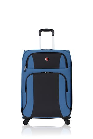 "SWISSGEAR 6110 24"" Expandable Liteweight Spinner Luggage - Blue/Black"