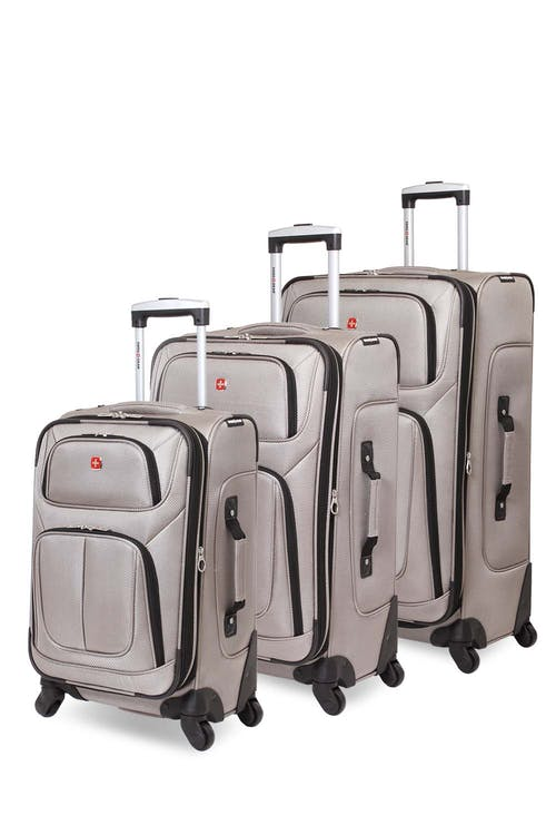 Swissgear 6283 Expandable Spinner Luggage 3pc Set - Pewter