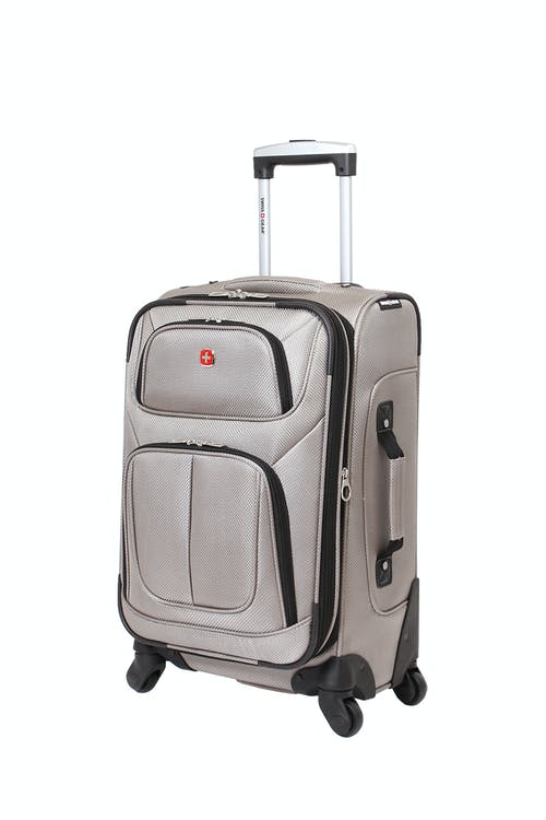 """SWISSGEAR 6283 21"""" EXPANDABLE SPINNER LUGGAGE - PEWTER"""