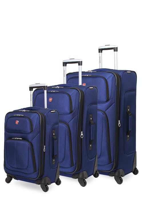 Swissgear 6283 Expandable Spinner Luggage 3pc Set - Blue