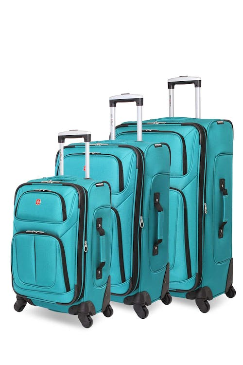 Swissgear 6283 Expandable Spinner Luggage 3pc Set - Teal
