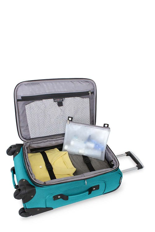 Swissgear 6283 Expandable 3pc Spinner Luggage Set Teal