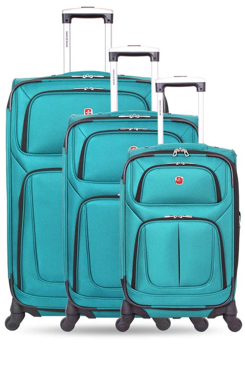 Swissgear 6283 Expandable Spinner Luggage 3pc Set Expands for additional interior space
