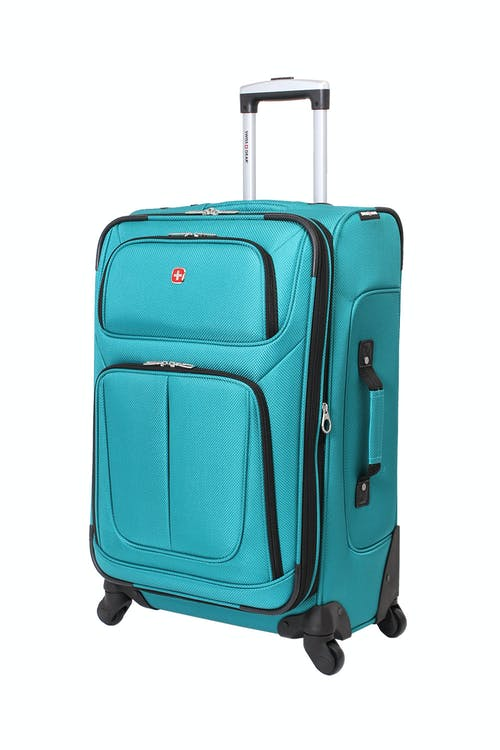 "SWISSGEAR 6283 24.5"" EXPANDABLE SPINNER LUGGAGE IN TEAL"