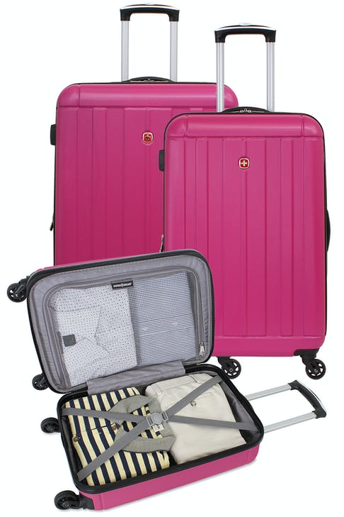 """Set contains 18"""", 23"""" and 27"""" Expandable Hardside Spinner Luggage"""