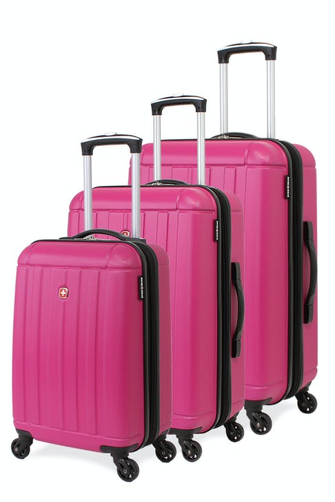 SWISSGEAR 6297 Expandable Hardside Spinner Luggage 3pc set - Pink
