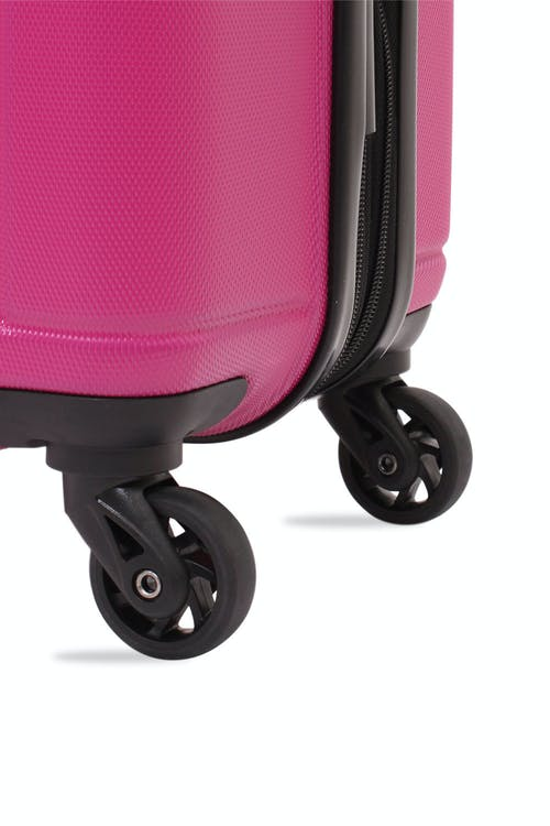 SWISSGEAR 6297 Expandable Hardside Spinner Luggage Four 360 degree, multi-directional liteweight spinner wheels