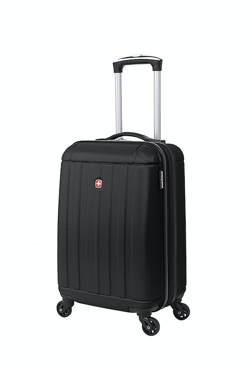 "SWISSGEAR 6297 18"" EXPANDABLE HARDSIDE SPINNER LUGGAGE - BLACK"