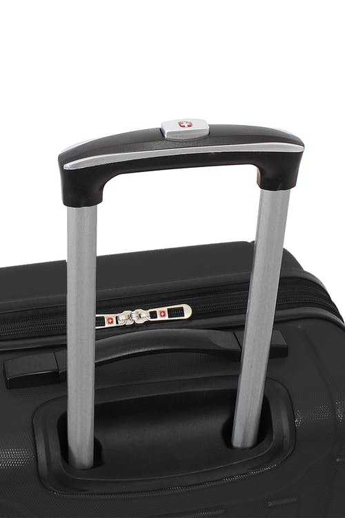 Swissgear 6297 Expandable Hardside Spinner Luggage Aluminum, push-button locking telescopic handle