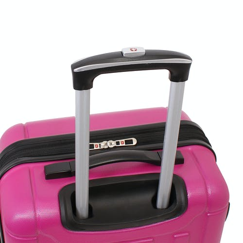 "SWISSGEAR 6297 24"" Expandable Hardside Spinner Luggage Aluminum, push button locking telescopic handle"