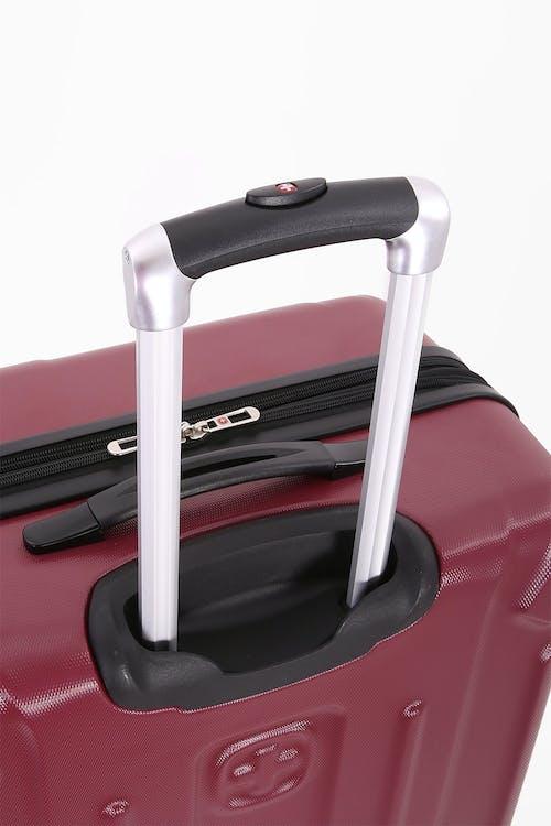 "SWISSGEAR 6302 23"" Expandable Hardside Spinner Luggage Aluminum, push button locking telescopic handle"