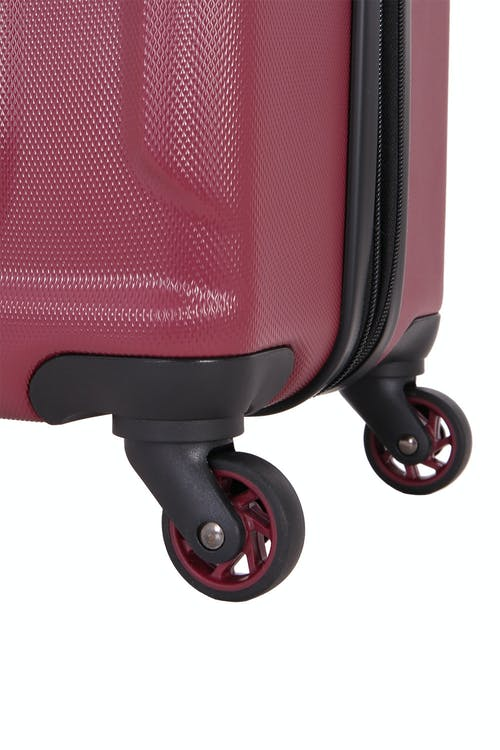 """SWISSGEAR 6302 23"""" Expandable Hardside Spinner Luggage Four 360 degree, multi-directional liteweight spinner wheels"""