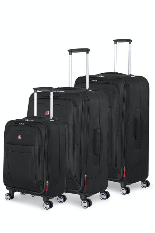 Swissgear 6305 Zurich Expandable 3pc Spinner Luggage Set - Black