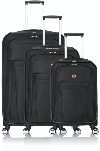Swissgear 6305 Zurich Expandable Spinner Luggage 3pc Set - Black