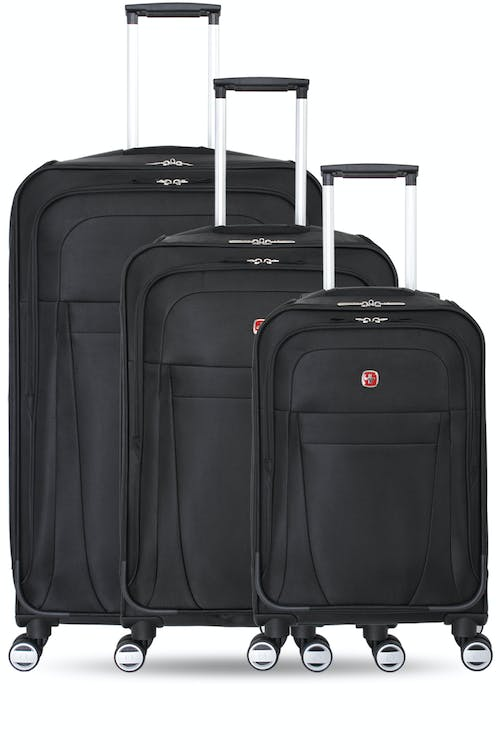 Swissgear 6305 Zurich Expandable Spinner Luggage 3pc Set Expands for additional interior space
