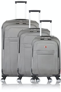 Swissgear 6305 Zurich Expandable 3pc Spinner Luggage Set - Pewter