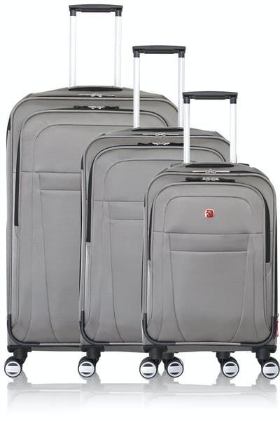Swissgear 6305 Zurich Expandable Spinner Luggage 3pc Set - Pewter