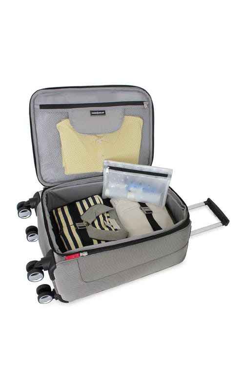 """Swiss Gear Zurich 20"""" Carry On Pilot Case Luggage Adjustable clothing tie-down straps"""