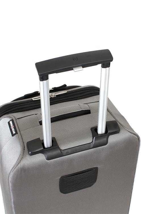 "Swiss Gear Zurich 20"" Carry On Pilot Case Luggage Aluminum, push button locking telescopic handle"