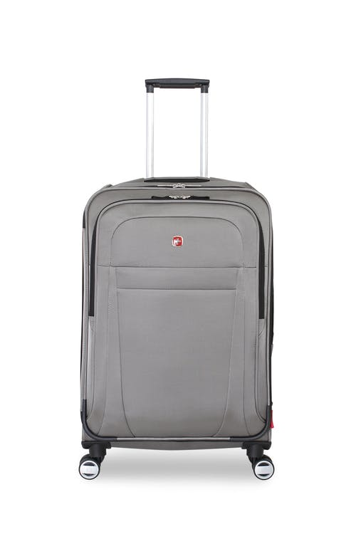 "Swissgear 6305 24"" Zurich Expandable Spinner Luggage Front, zippered pocket"