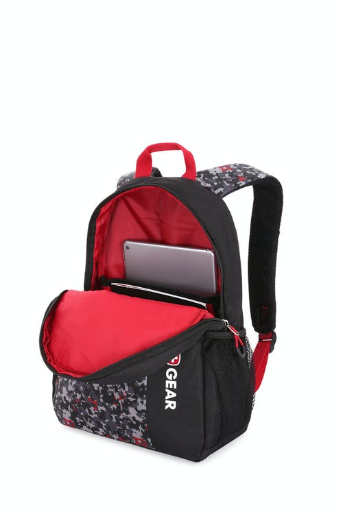 Swissgear 6326 Boys Digicraft Backpack - Large main compartment with built-in padded file pouch