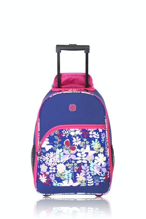 Swissgear 6337 Girl's Rolling Backpack - Pink Floral