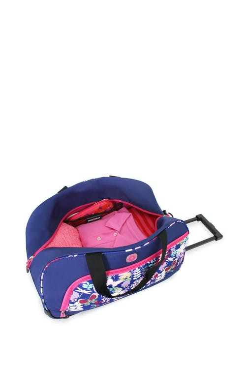 Swissgear 6337 Girl's Rolling Duffel easy access front zippered pocket