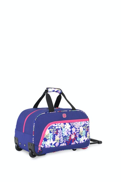 Swissgear 6337 Girl's Rolling Duffel  A large mesh pocket in main compartment