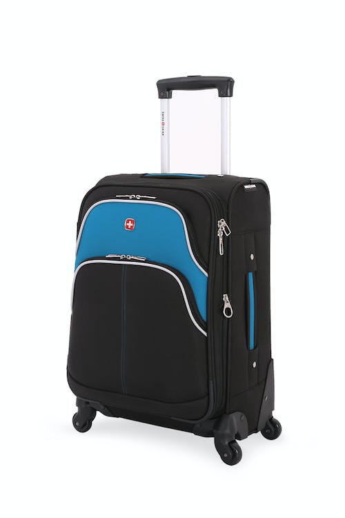 "Swissgear 6359 18.5"" Rhine Expandable Spinner Luggage - Black/Raffa Teal"