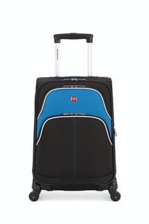 "SWISSGEAR 6359 20"" Expandable Rhine Spinner Luggage - Black/Raffa Teal"
