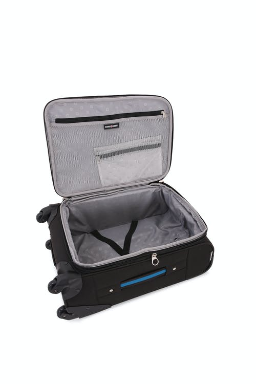 "Swissgear 6359 20"" Expandable Rhine Spinner Luggage - Elastic, tie-down clothing straps"