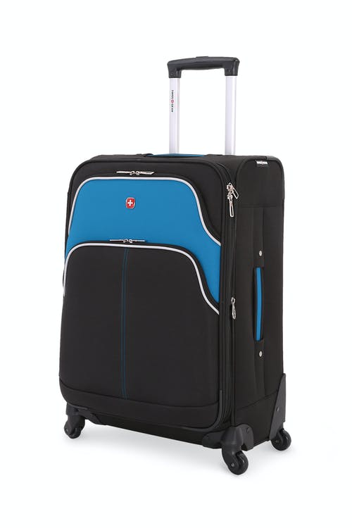 "SWISSGEAR 6359 24 "" Expandable Rhine Spinner Luggage - Black/Raffa Teal"