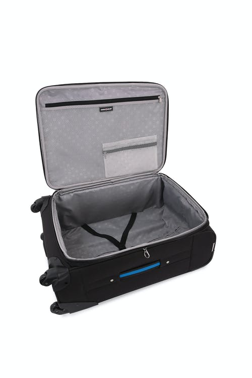 "SWISSGEAR 6359 24 "" Expandable Rhine Spinner Luggage - Elastic, tie-down clothing straps"