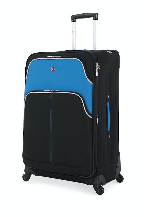 "SWISSGEAR 6359 28"" Expandable Rhine Spinner Luggage - Black/Raffa Teal"
