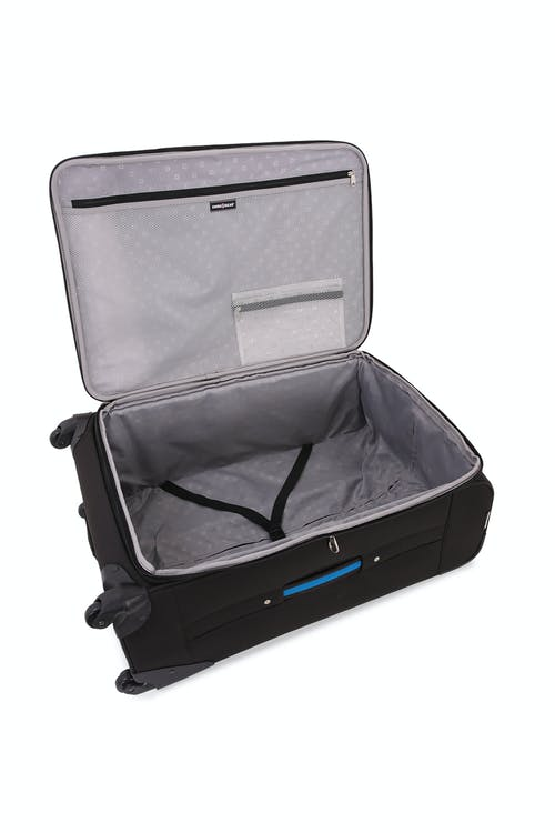 "Swissgear 6359 28"" Rhine Expandable Spinner Luggage - Elastic, tie-down clothing straps"