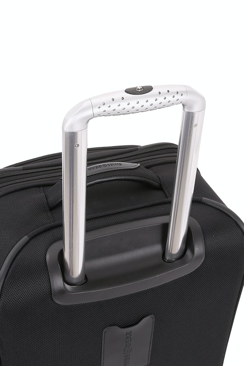 "SWISSGEAR 6369 20"" 2 Wheel Upright Luggage Aluminum, push button locking telescopic handle"