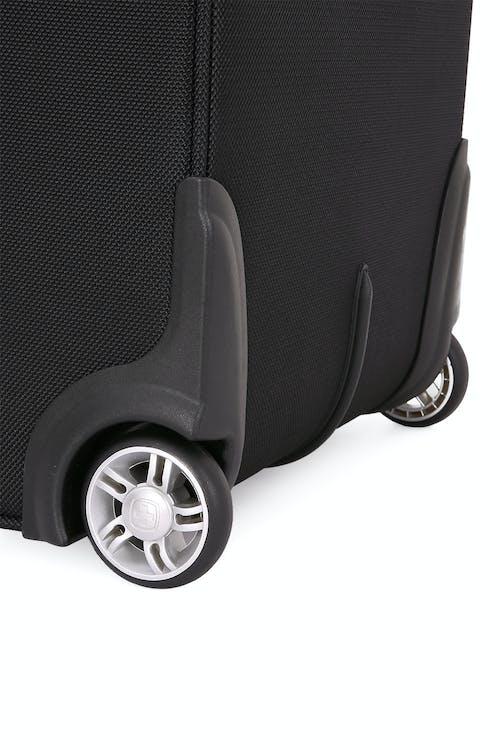 """SWISSGEAR 6369 20"""" 2 Wheel Upright Luggage Wide-stance spinner wheels"""