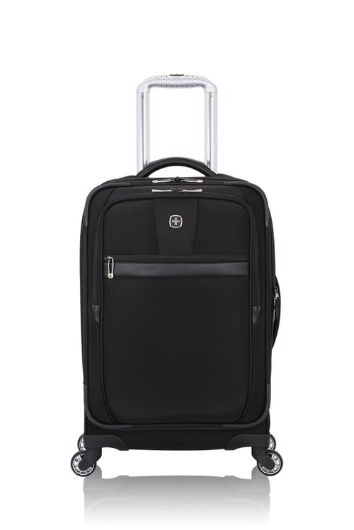"Swissgear 6369 20"" Expandable Spinner Luggage - Black"
