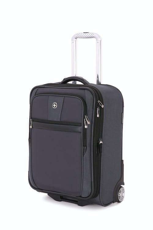 "SWISSGEAR 6369 20"" 2 Wheel Upright Luggage in Dark Grey/Black"
