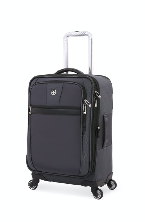 "Swissgear 6369 20"" Expandable Spinner Luggage - Black Gray/Black"